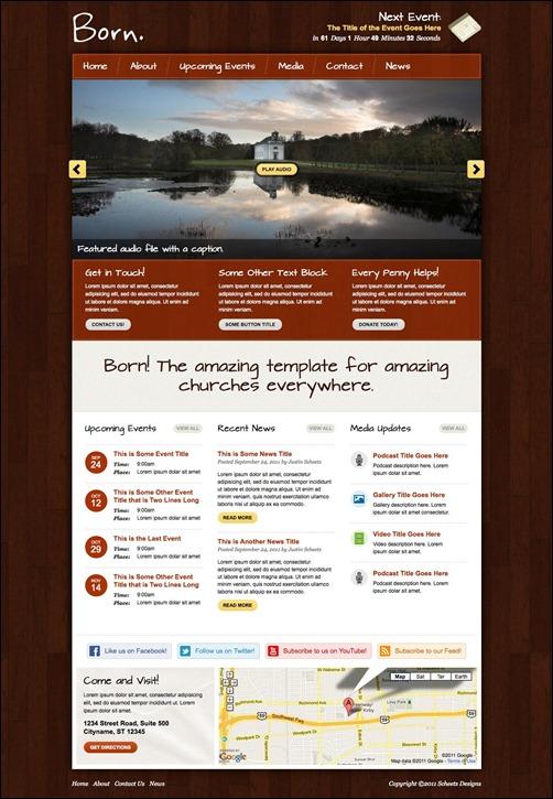 Church Web Templates. catholic church website template 303 ...