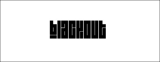 Blackout Square Font