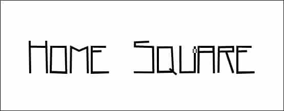 Home Square Square Font