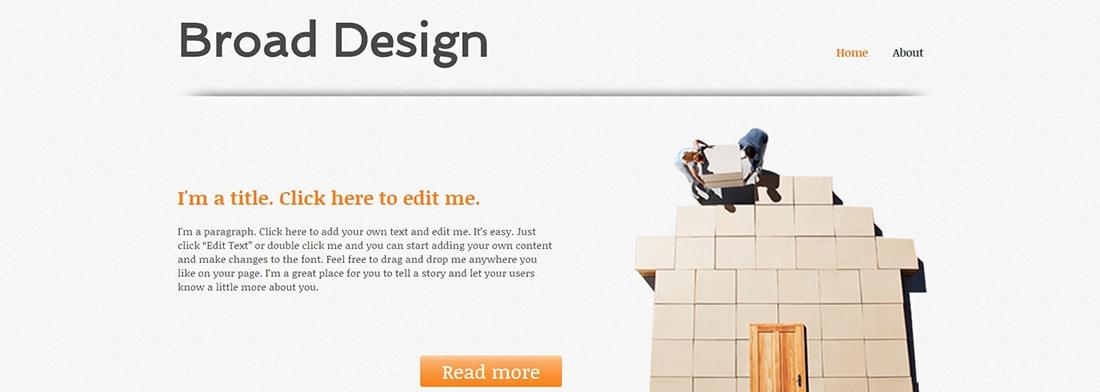 Broad Design Website Template _ WIX