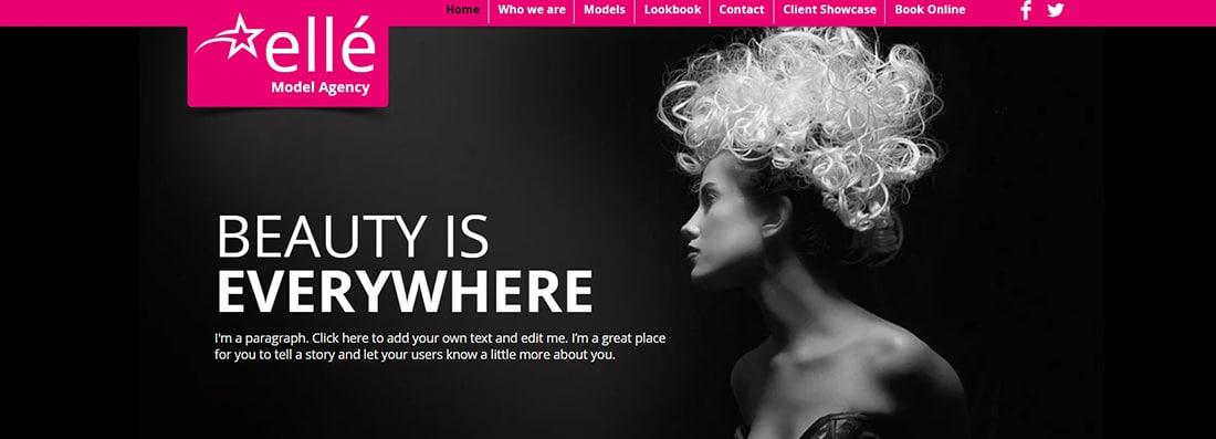 Model Agency Website Template _ WIX