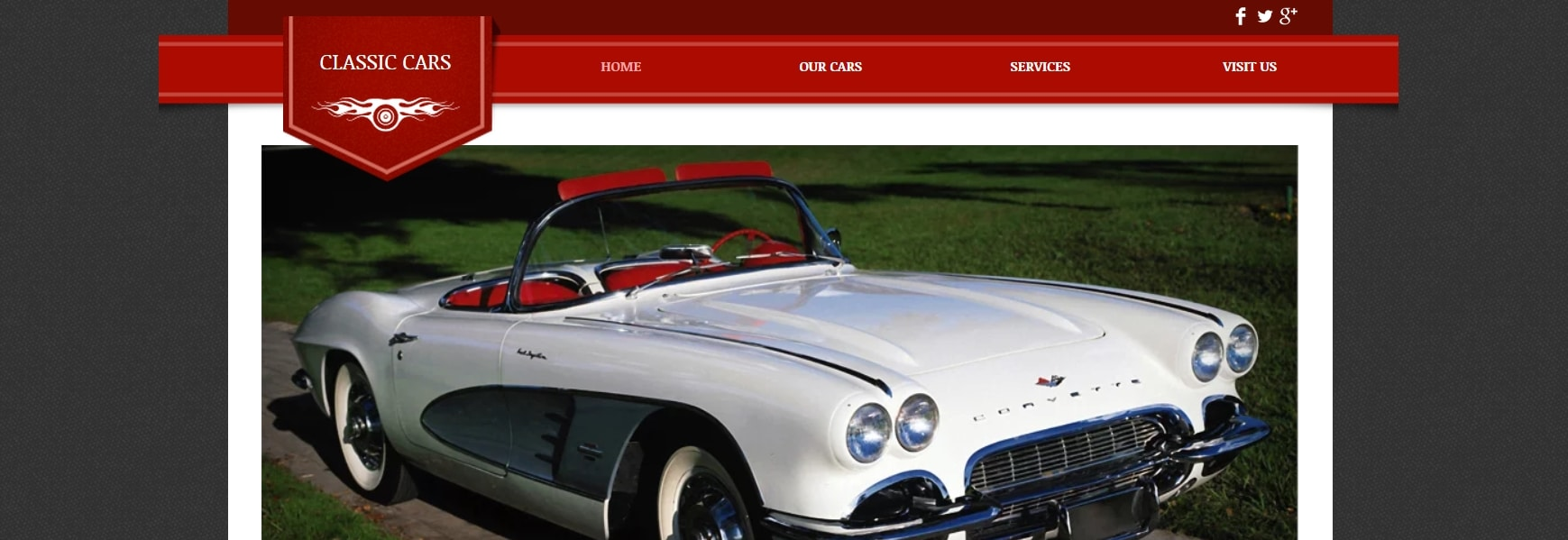 Vintage Cars Website Template _ WIX