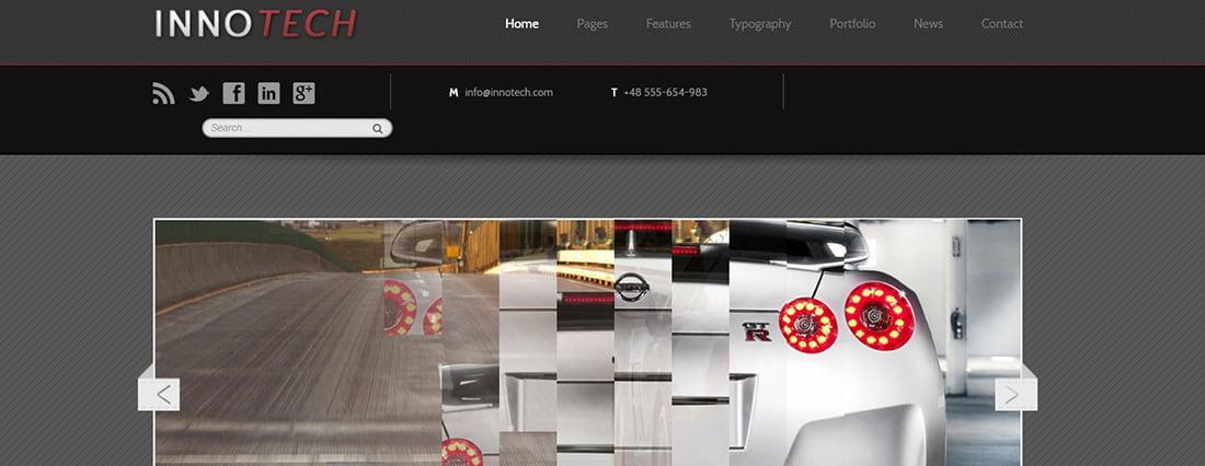 Transportation Website Templates innotech