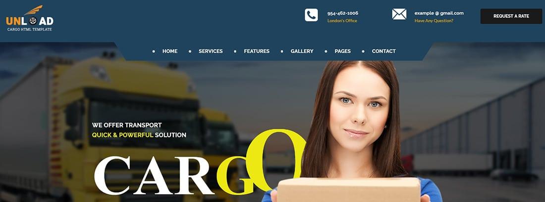 Unload - Cargo, Shipping, Warehouse & Transport HTML5 Responsive Website Templat