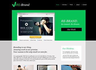 Brand Management Marketing Website Template