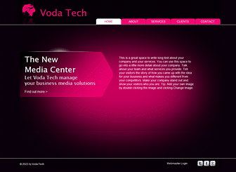 Media  Marketing Website Template