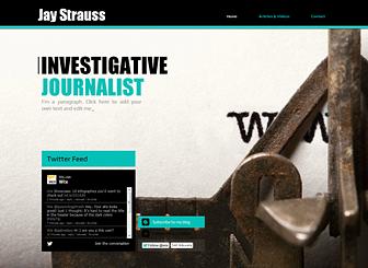 journalism Marketing Website Templates
