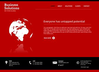 Strategic Management Marketing Website Template