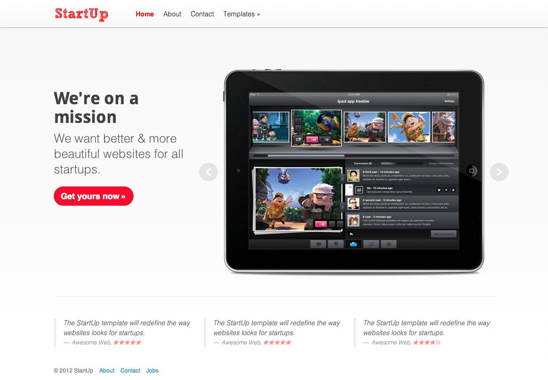 Startup Marketing App WordPress Theme