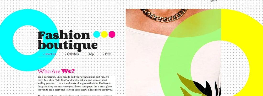 Fashion Boutique Website Template _ WIX