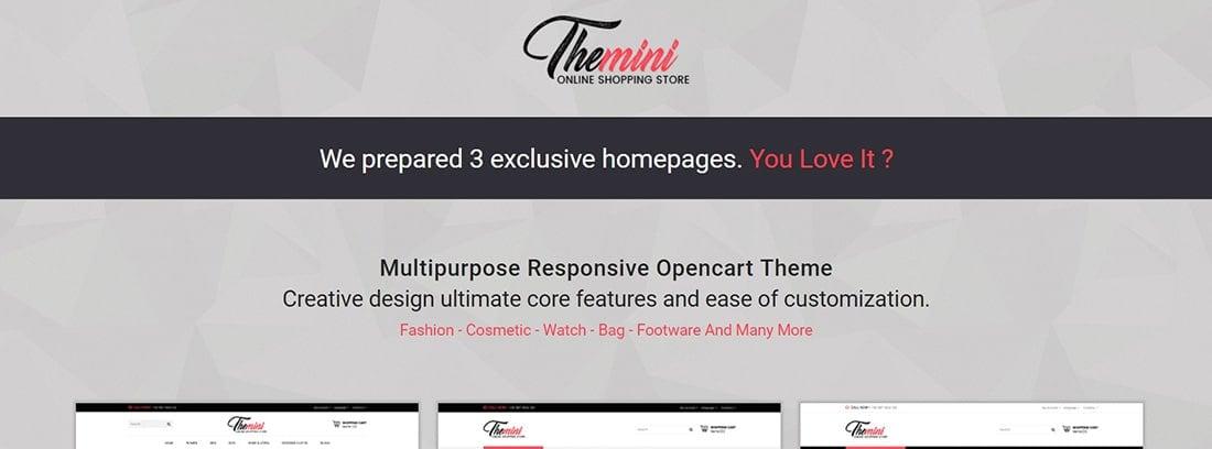 Themini - Multipurpose Responsive Fashion Opencart