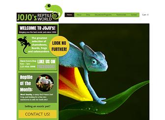 Reptile Shop Animals Website Template