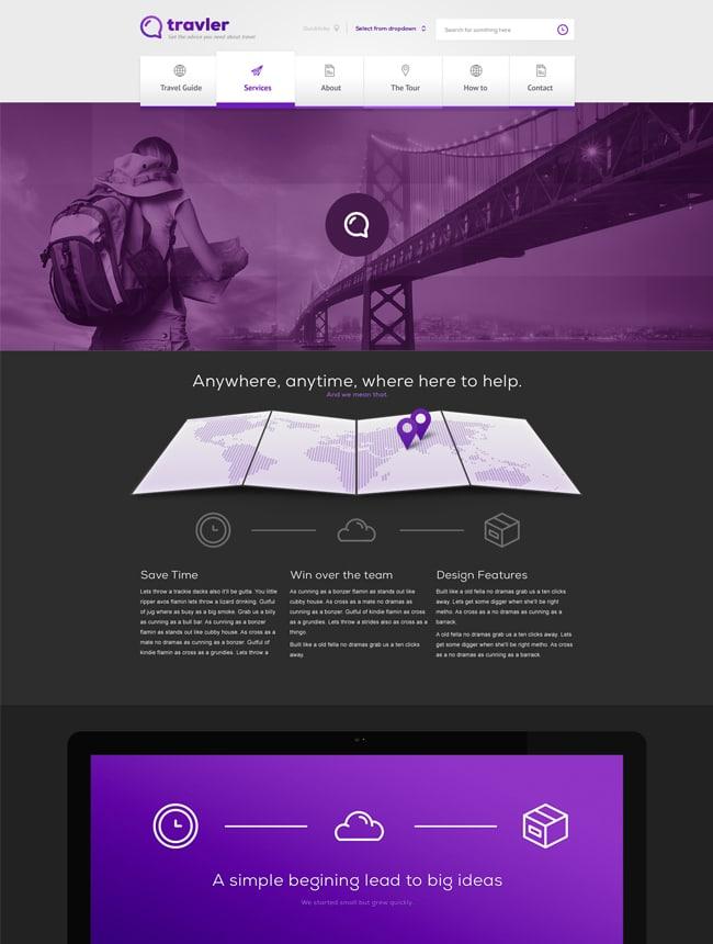 Travler Free PSD Web Design