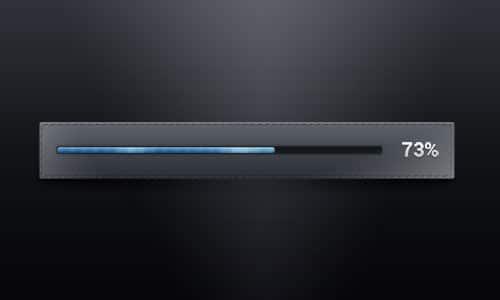 Dark PSD Progress Bar