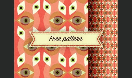 Free retro eye pattern