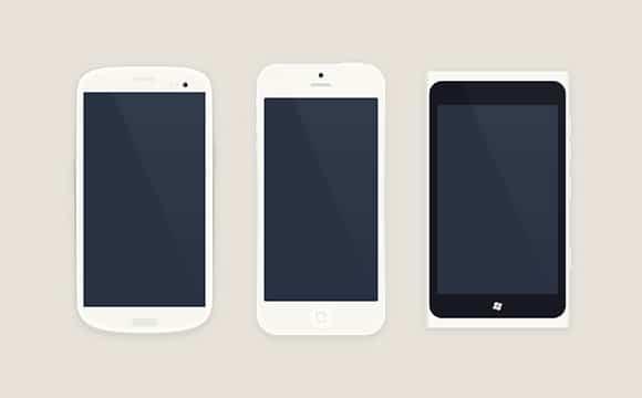 Free PSD smartphones mockups