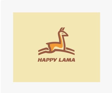 Animal Logo Happy Lama