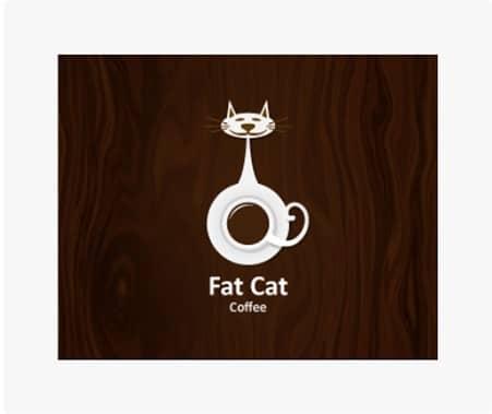 Animal Logo FatCat coffee