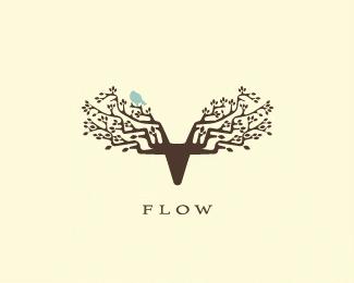 Flow colorful logo