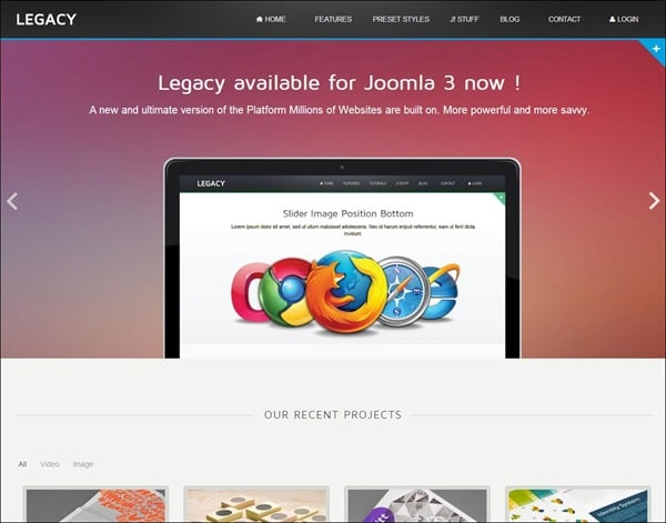 Legacy – Responsive Joomla Theme