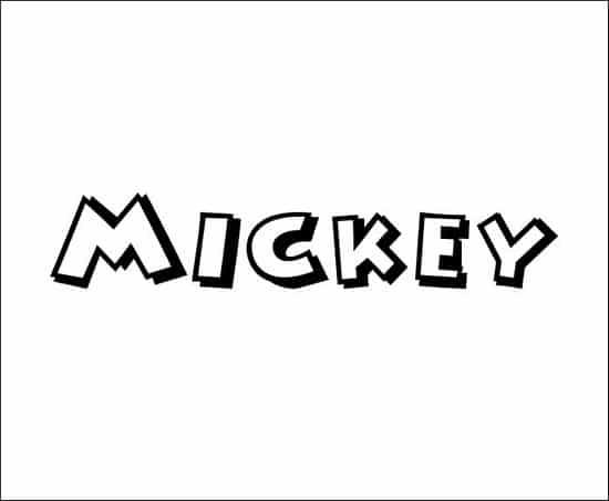 Mickey 3D font