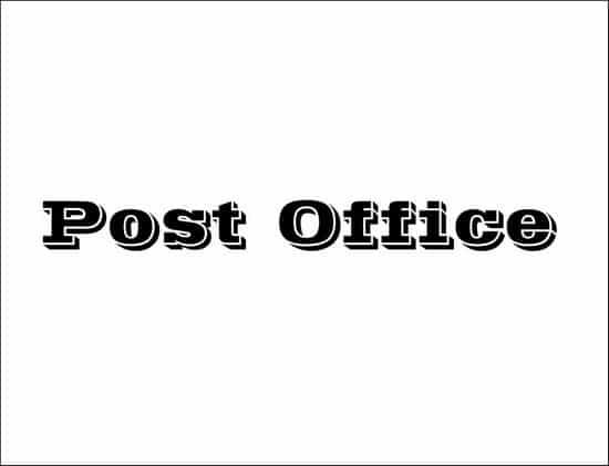 Post Office 3D font