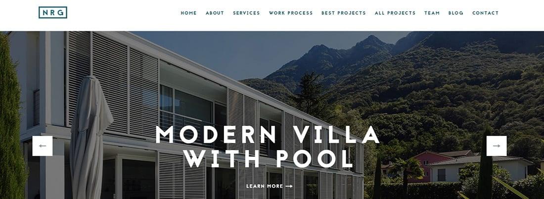 NRGarchitect - Premium Drupal Theme - Clean Portfolio Website Templates