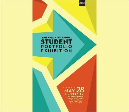 AIGA Student Portfolio Exhibtion poster design
