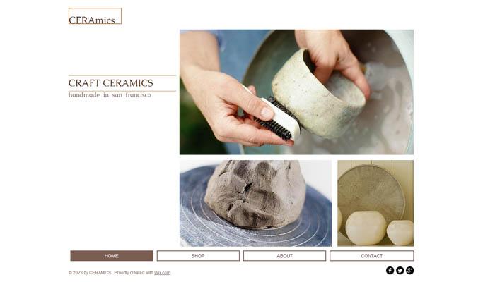 Ceramic Craft wix website template