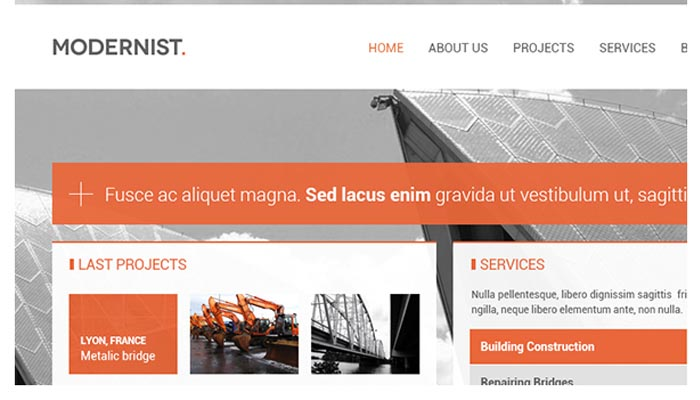 Modernist Architecture Engineer WordPress Theme