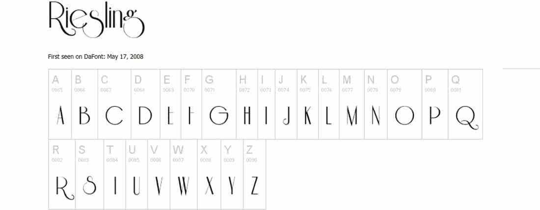 Riesling Font Ribbon Fonts