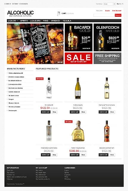 Alcoholic Beverage Store PrestaShop Template