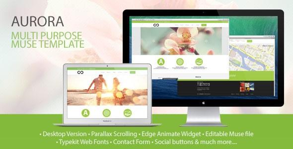 Aurora Muse Website Template