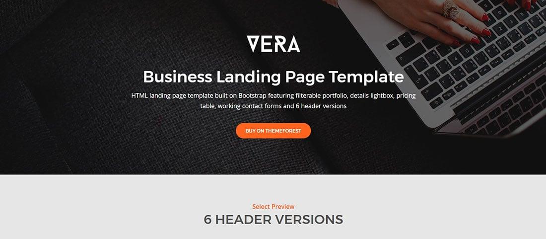 20 modern corporate landing page templates vera corporate landing page templates accmission Choice Image