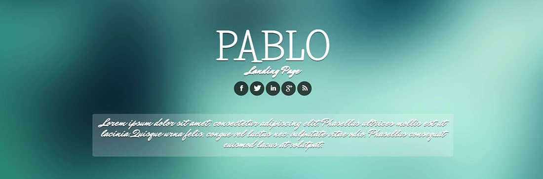 Pablo Corporate Landing Page