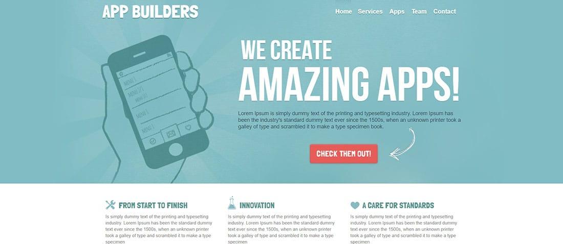 App Builders HTML Corporate Landing Page