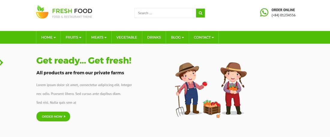 Fresh Food PrestaShop Template