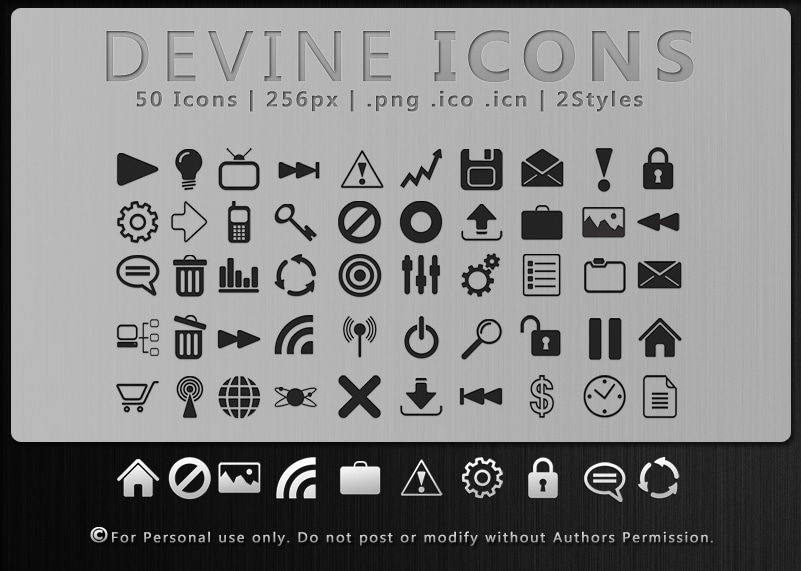 Devine Icon Set