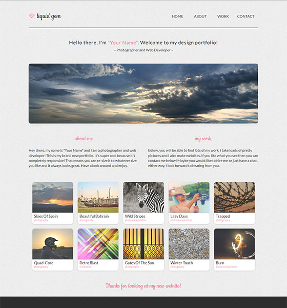 Liquid gem Free HTML5 Responsive Template