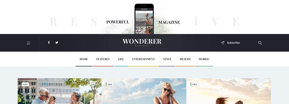 Wonderer review blog templates