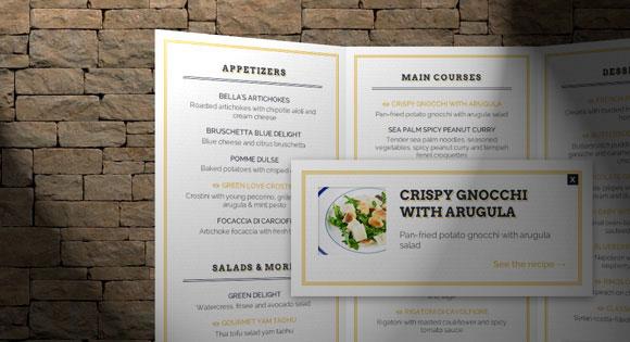 3D restaurant menu concept HTML CSS