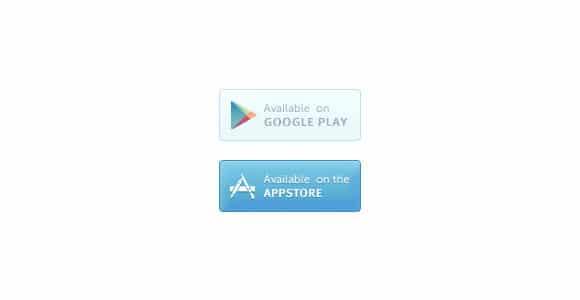 Google play & Appstore PSD buttons