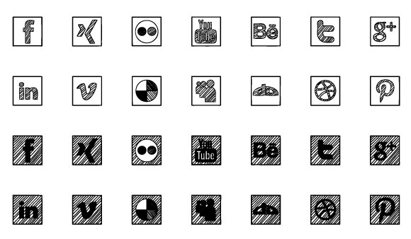 Sketched Social Icons Webfont