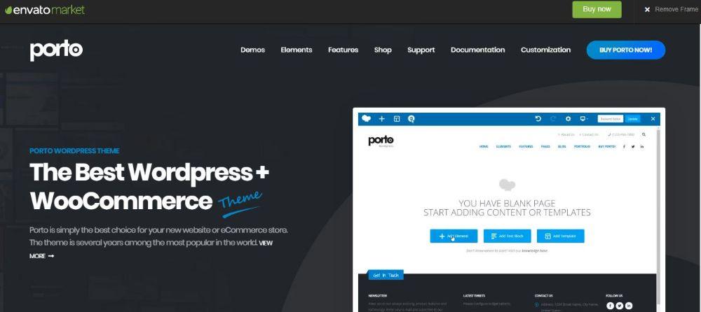 Porto WooCommerce Online Shop Theme