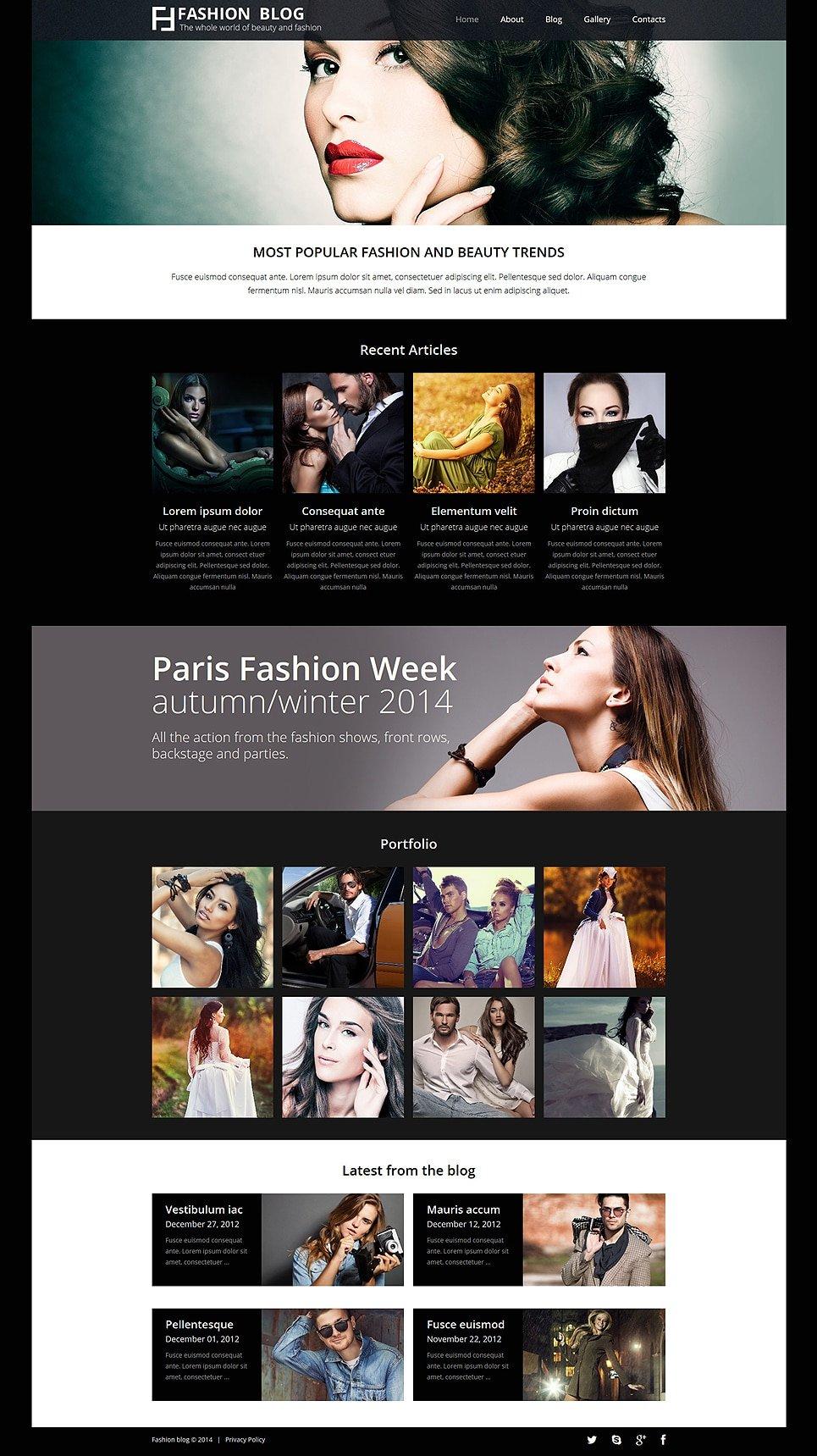 Fashionistas Guide Joomla Template