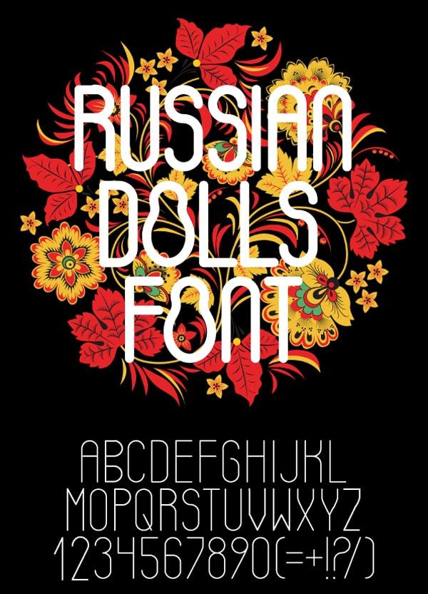 Russian Dolls Font