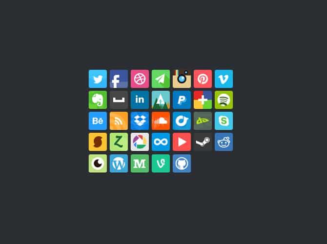 Bean Social Icons Free PSD