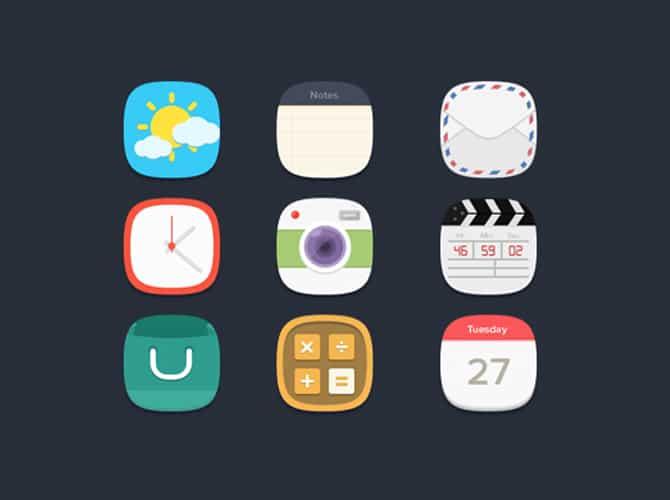 Big Flat Icons Free PSD