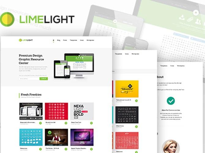 LimeLight Portfolio Website Template Free PSD