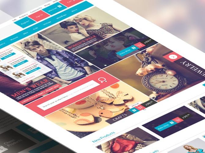 Modern E-Commerce Website Template Free PSD
